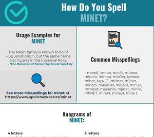 Correct spelling for MINET