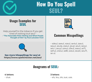 Correct spelling for SEUL