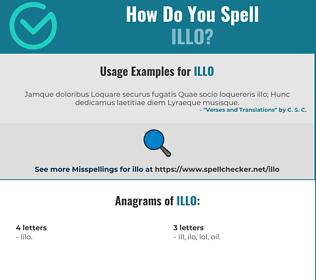 Correct spelling for ILLO