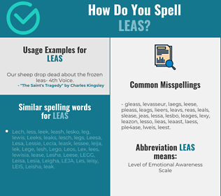 Correct spelling for LEAS
