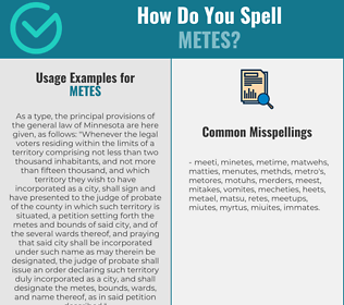 Correct spelling for METES