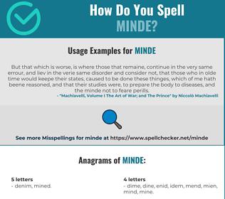 Correct spelling for MINDE