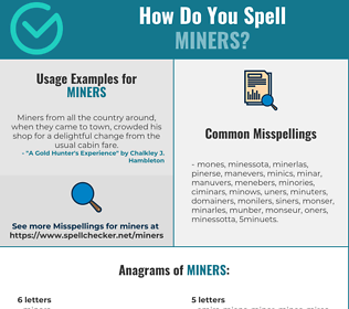 Correct spelling for MINERS