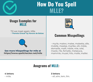 Correct spelling for MLLE