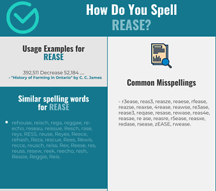 Correct spelling for REASE