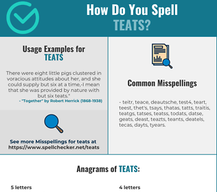 Correct spelling for TEATS