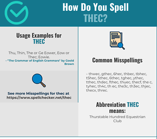 Correct spelling for THEC