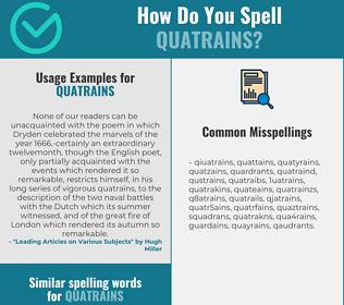 Correct spelling for quatrains