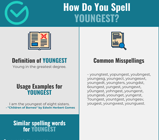 Correct spelling for youngest