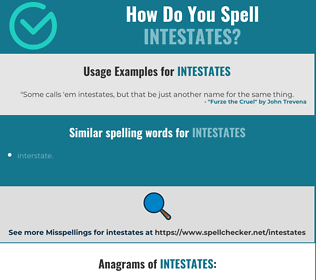 Correct spelling for intestates