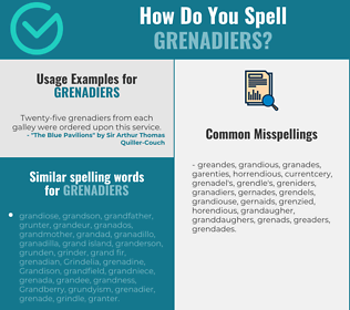 Correct spelling for grenadiers