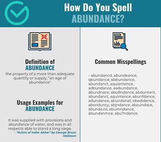 Correct spelling for abundance