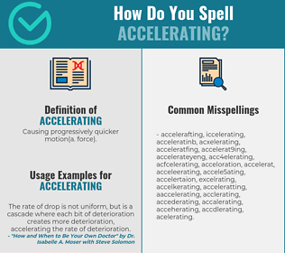 Correct spelling for accelerating