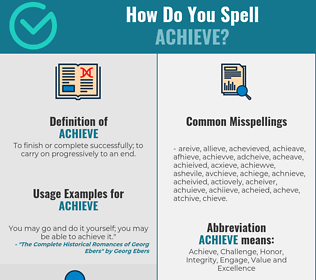 Correct spelling for achieve