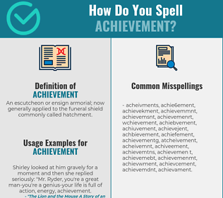 Correct spelling for achievement