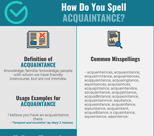Correct spelling for acquaintance