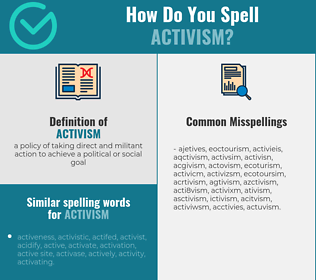 Correct spelling for activism