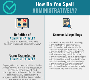 Correct spelling for administratively