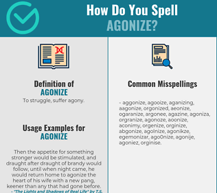 Correct spelling for agonize