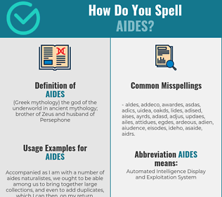 Correct spelling for aides
