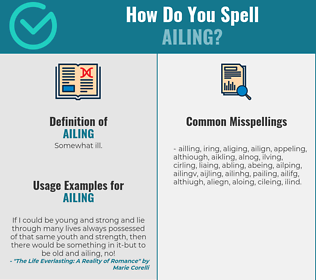 Correct spelling for ailing