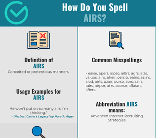 Correct spelling for airs