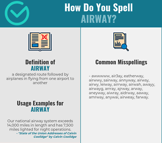 Correct spelling for airway