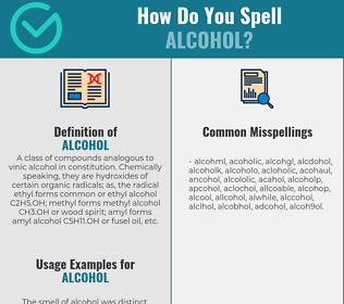 Correct spelling for alcohol