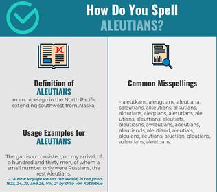 Correct spelling for aleutians
