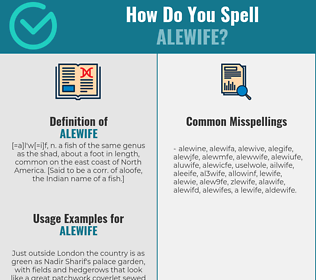 Correct spelling for alewife