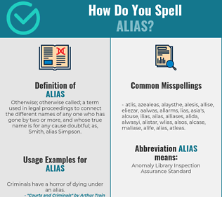 Correct spelling for alias