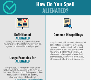 Correct spelling for alienated