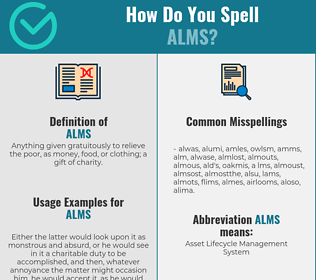 Correct spelling for alms