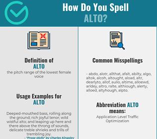 Correct spelling for alto