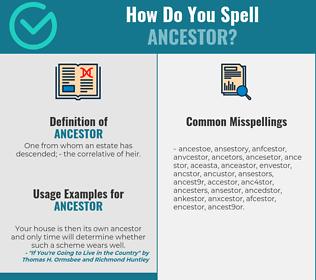 Correct spelling for ancestor