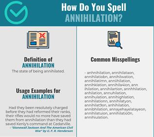 Correct spelling for annihilation