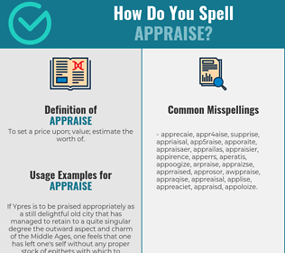 Correct spelling for appraise