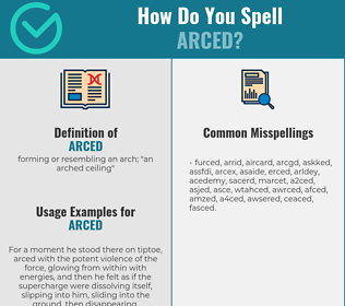 Correct spelling for arced