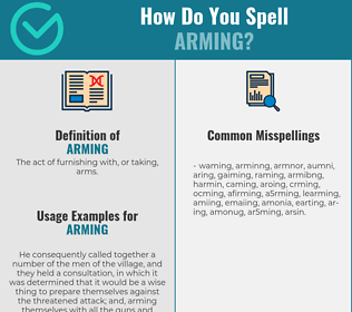 Correct spelling for arming