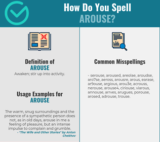 Correct spelling for arouse