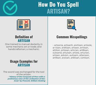 Correct spelling for artisan