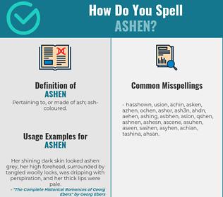 Correct spelling for ashen