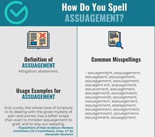 Correct spelling for assuagement