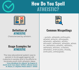 Correct spelling for atheistic