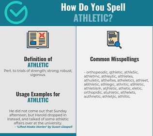 Correct spelling for athletic