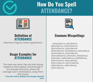 Correct spelling for attendance