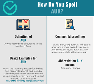 Correct spelling for auk