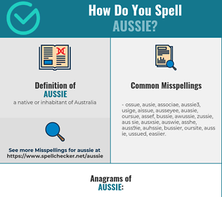 Correct spelling for aussie
