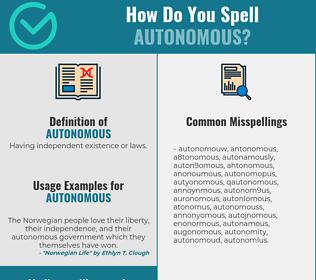 Correct spelling for autonomous