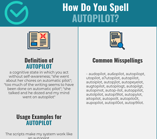 Correct spelling for autopilot